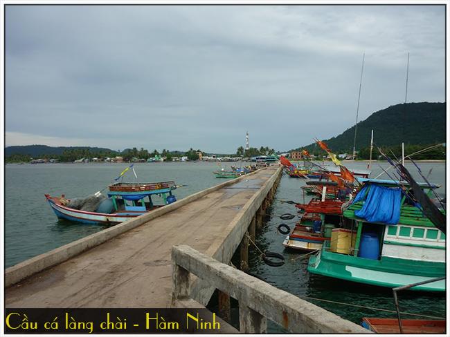 Cầu cá làng chài - Hàm Ninh