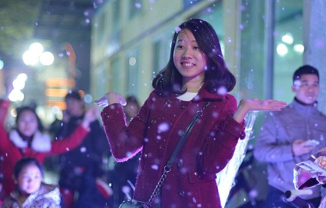 Nhìn những bức ảnh như thế này bất cứ ai cũng tưởng rằng bạn đang đứng ở một nơi có thật nhiều tuyết như trong những bộ phim tình cảm của Hàn Quốc