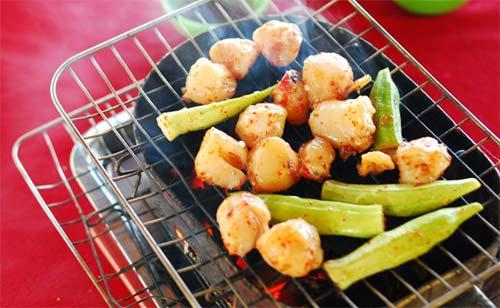 Còi biên mai nướng – món ngon độc đáo trên đảo Phú Quốc