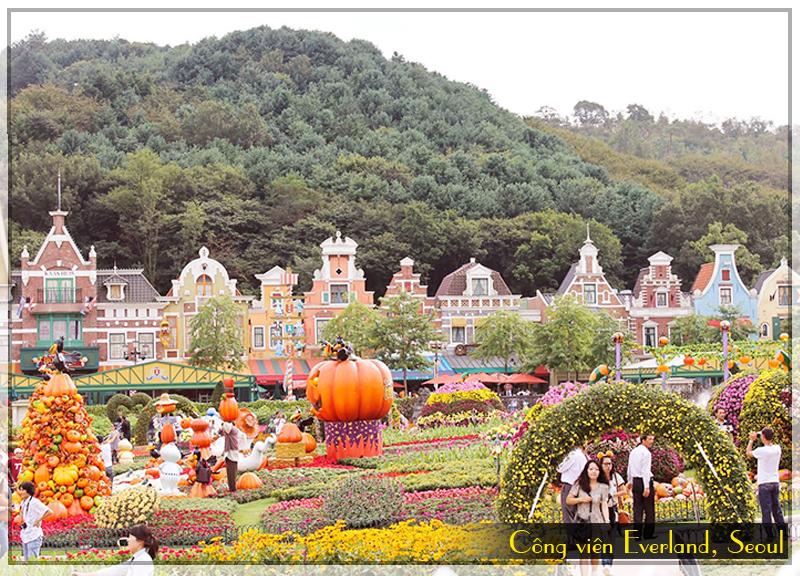 cong-vien-Everland, Seoul, tour du lich chau a 8 ngay
