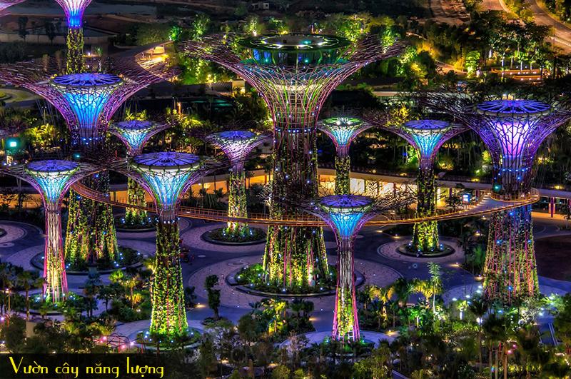 vuon-cay-nang-luong-Garden-by-the-bay, du lich singapore