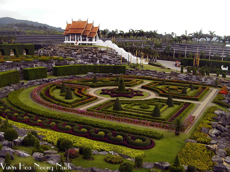 vuon-hoa-Noong-Nuch, du lich bangkok pattaya